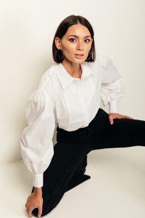 Tamara shirt – camicia bianca cotone organico