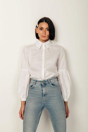 Terry shirt – camicia bianca cotone organico