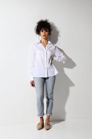 Essential white shirt – camicia bianca cotone organico