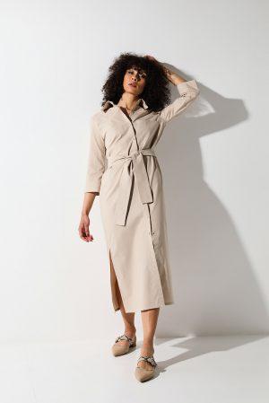 Sahara dress – abito chemisier cotone organico